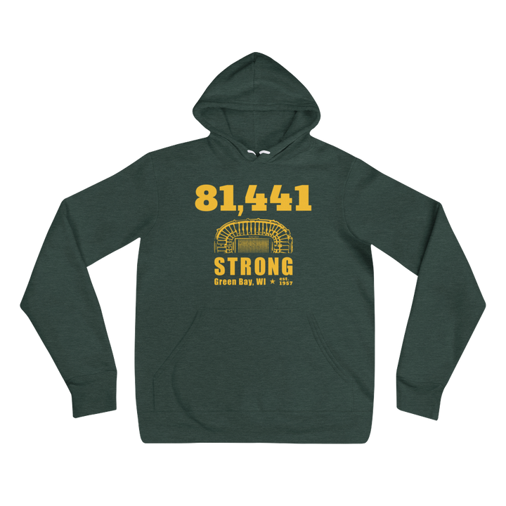 81,441 Strong Unisex Hoodie