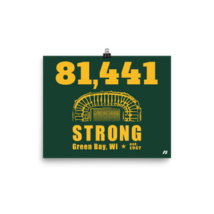 81,441 Strong Poster