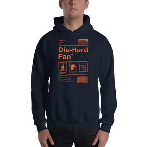 Denver Football Die-Hard Fan Hooded Sweatshirt