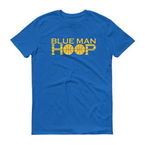 Men's Blue Man Hoop Short-Sleeve T-Shirt