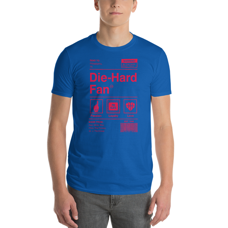 Philadelphia Basketball Die-Hard Fan Short-Sleeve T-Shirt