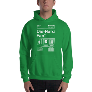 Boston Basketball Die-Hard Fan Hooded Sweatshirt