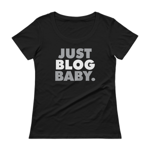 Women's Just Blog Baby Scoopneck T-Shirt