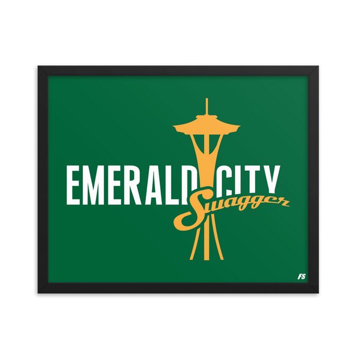 Emerald City Swagger Framed poster