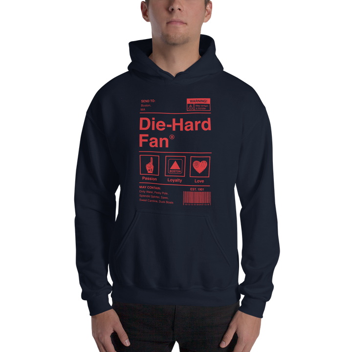 Boston Baseball Die-Hard Fan Hooded Sweatshirt