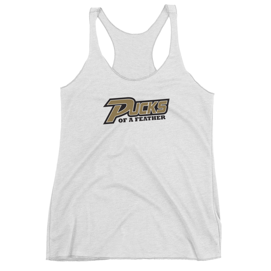 Women's Pucks of a Feather Racerback Tank