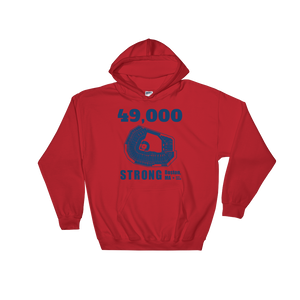 49,000 Strong Hooded Sweatshirt
