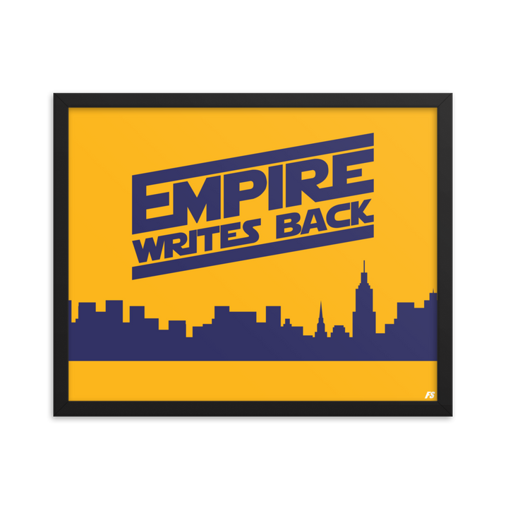 Empire Writes Back Framed poster