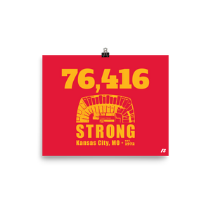 76,416 Strong Poster