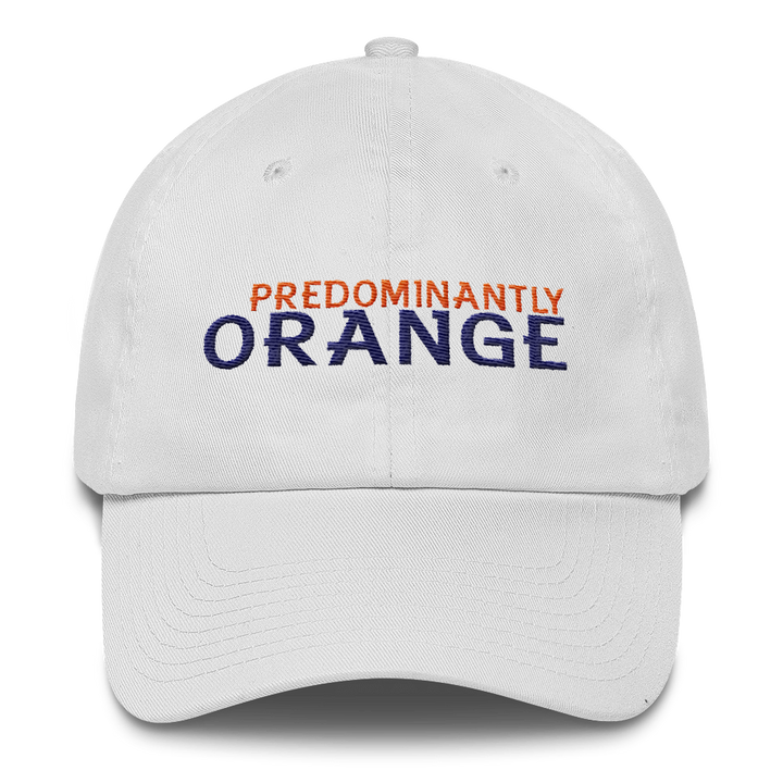 Predominantly Orange Cotton Cap