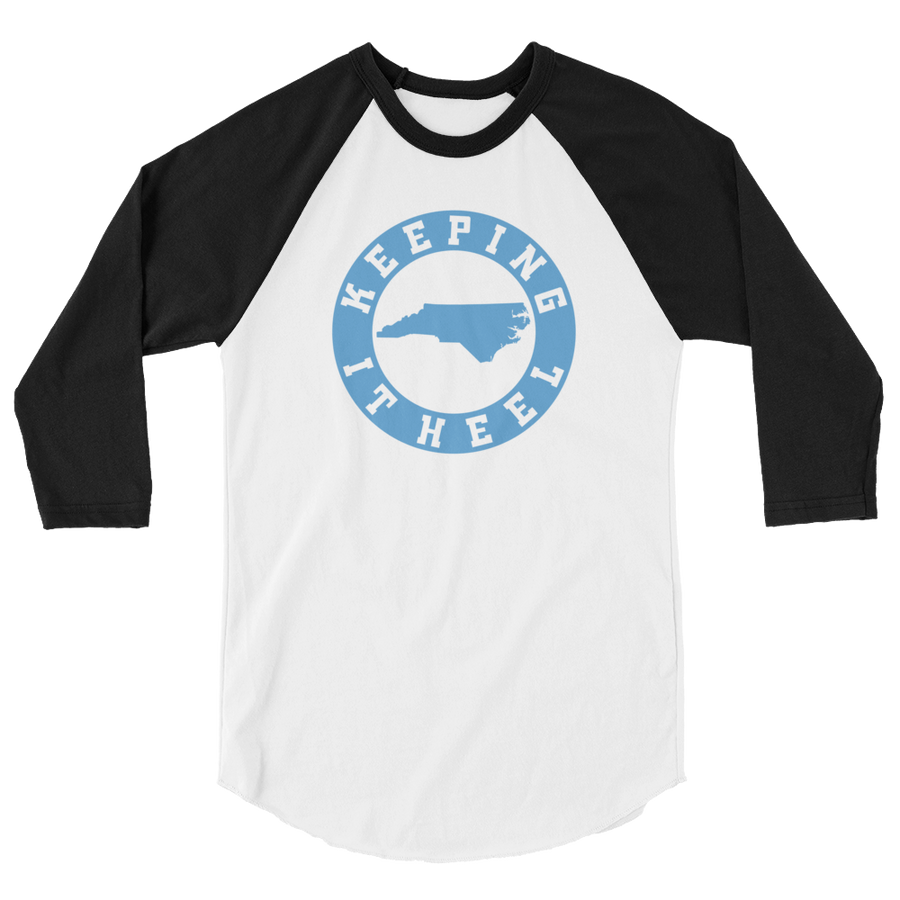 Keeping It Heel 3/4 sleeve raglan shirt