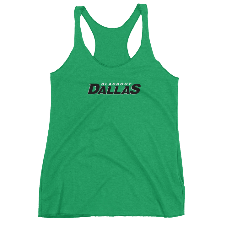 Women's Blackout Dallas Racerback Tank