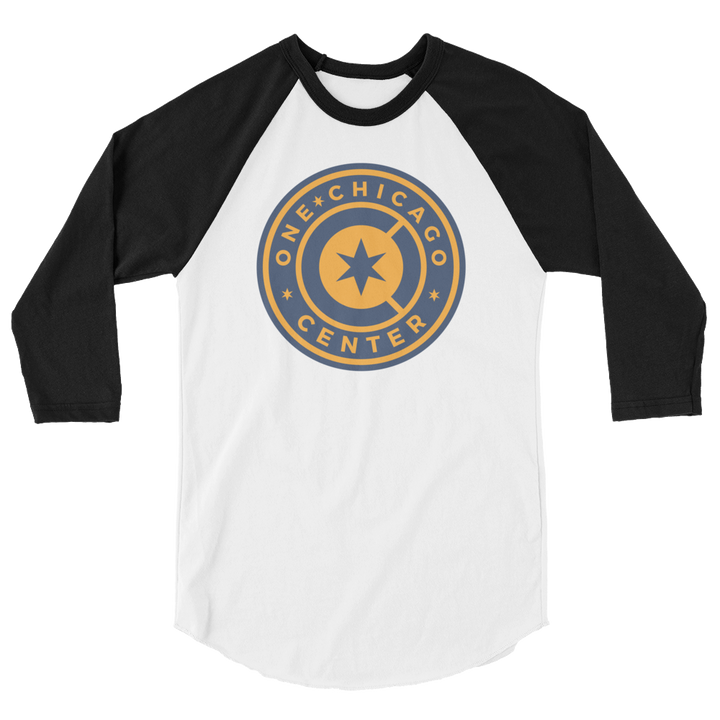 One Chicago Center 3/4 sleeve raglan shirt