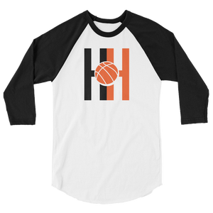 Hoops Habit  3/4 sleeve raglan shirt