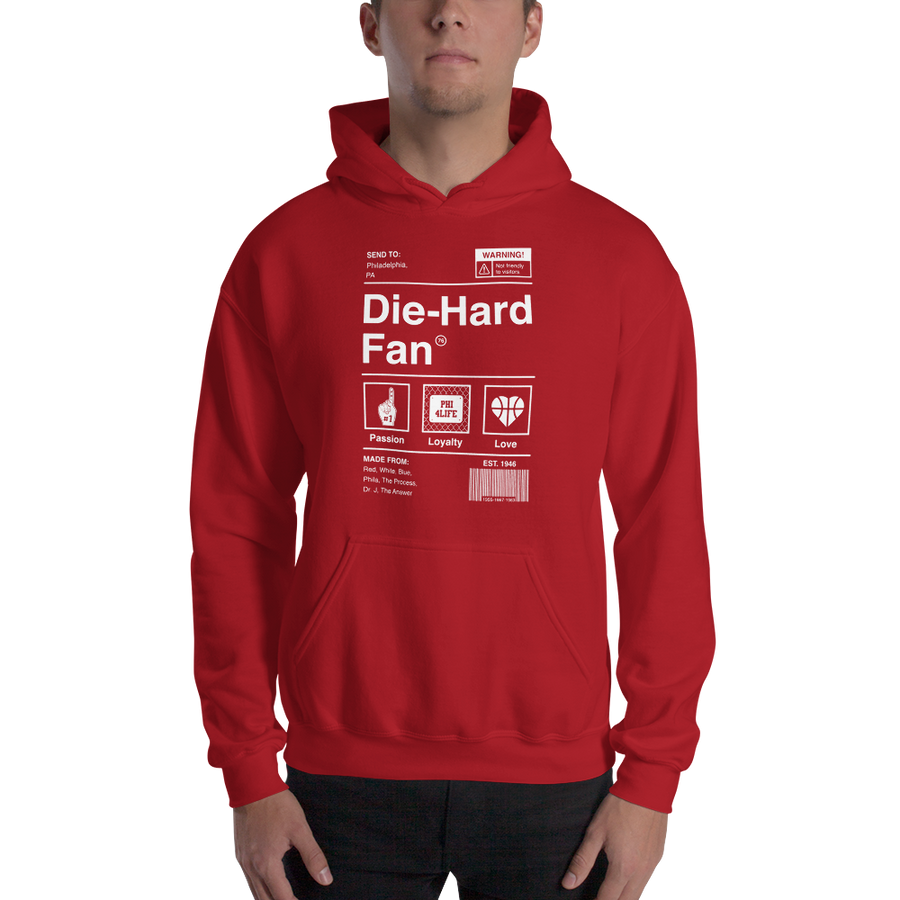 Philadelphia Basketball Die-Hard Fan Hooded Sweatshirt