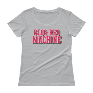 Women's Blog Red Machine Scoopneck T-Shirt