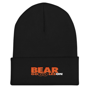 Bear Goggles On Cuffed Beanie