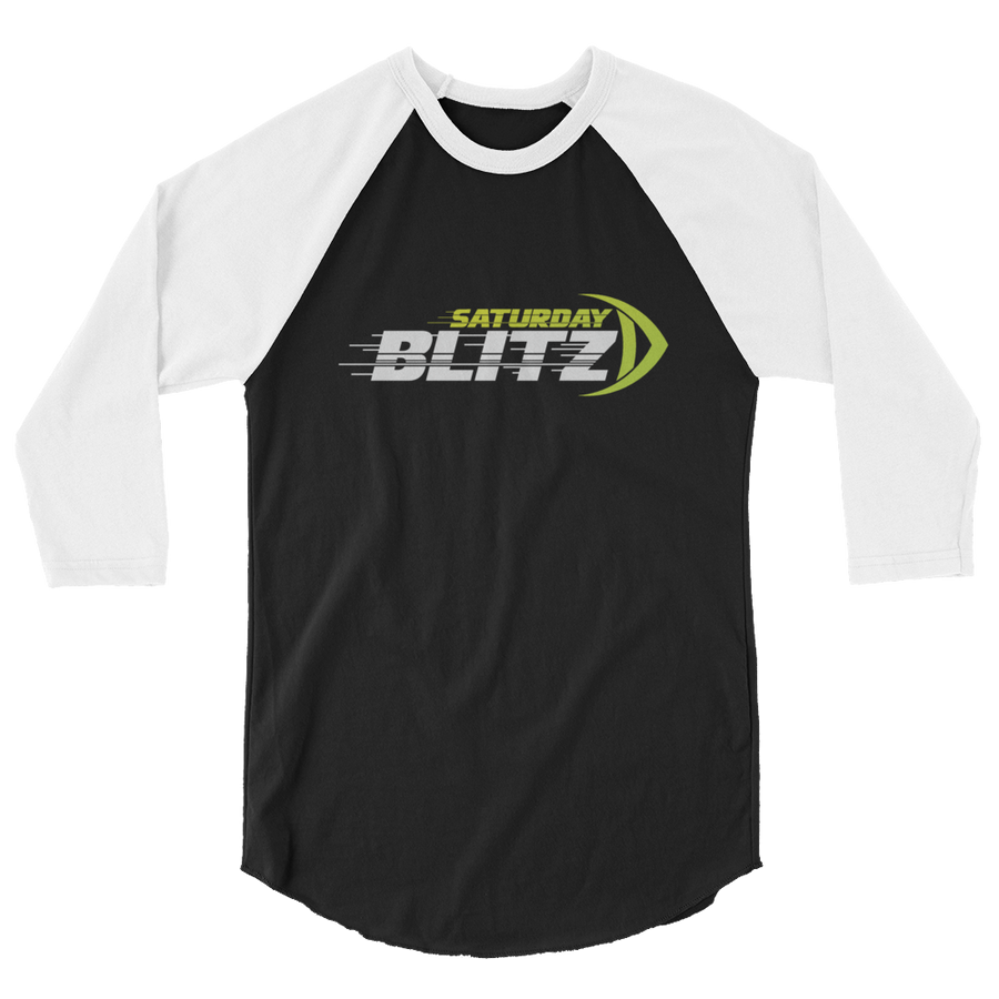 Saturday Blitz 3/4 sleeve raglan shirt