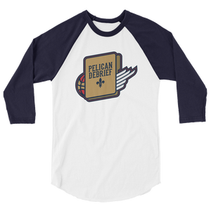 New Orleans Basketball 3/4 sleeve raglan shirt