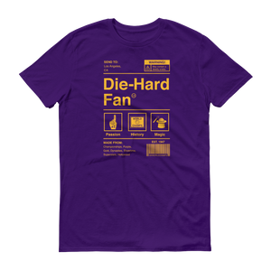 Los Angeles Basketball Die-Hard Fan Short-Sleeve T-Shirt