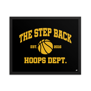 The Step Back Hoops Dept. Premium Matte Framed Poster