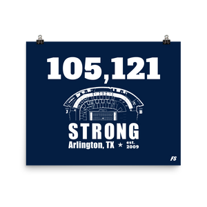 105,121 Strong Poster