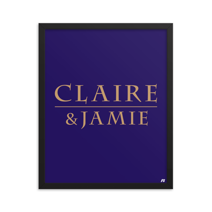 Claire & Jamie Framed poster