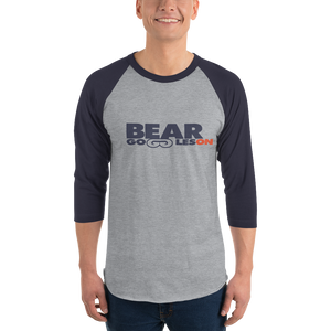 Bear Goggles On 3/4 sleeve raglan shirt