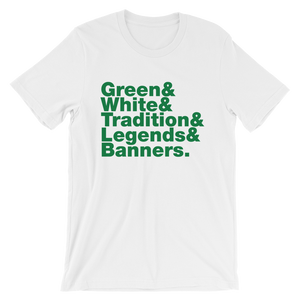 Green & White & Tradition Short-Sleeve Unisex T-Shirt