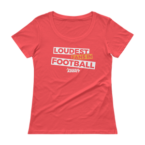 Women's Loudest Fans In Football Arrowhead Addict Scoopneck T-Shirt