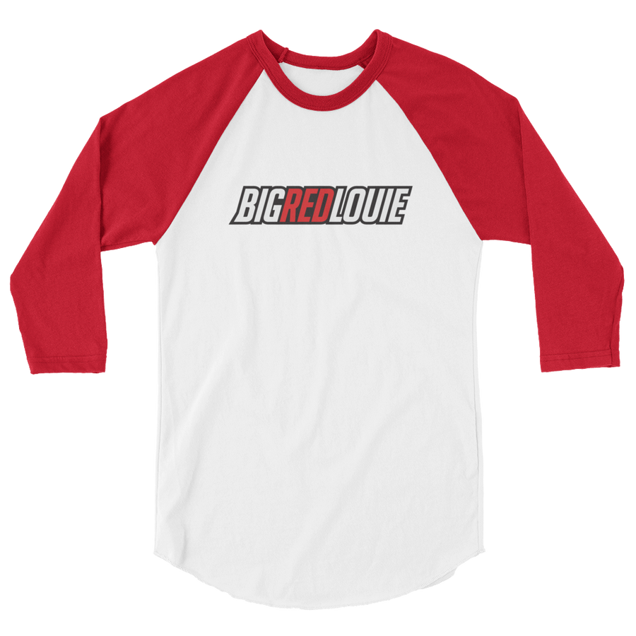 Big Red Louie 3/4 sleeve raglan shirt