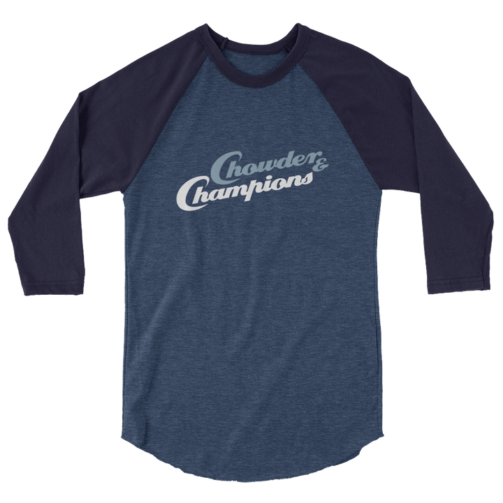 Chowder and Champions 3/4 sleeve raglan shirt