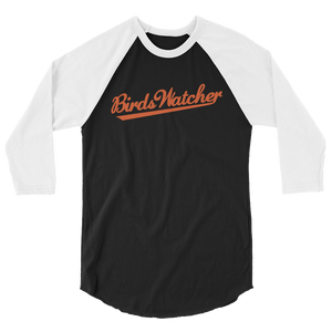 Birds Watcher 3/4 sleeve raglan shirt