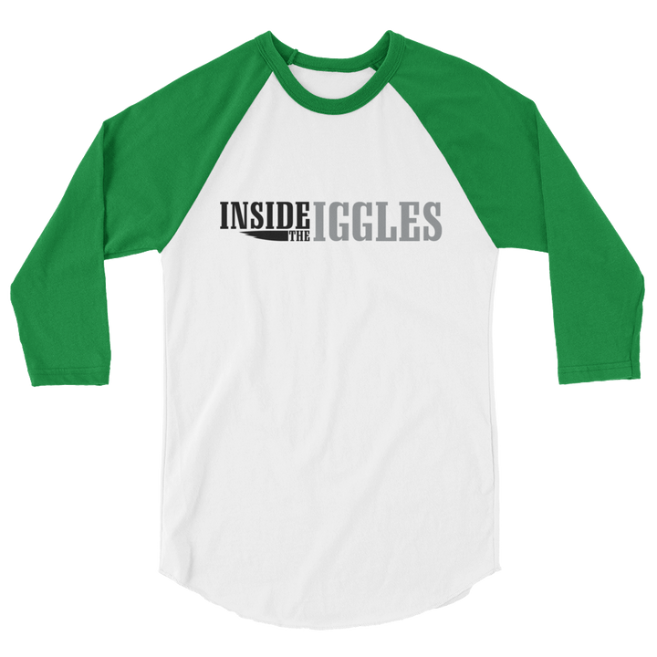 Inside The Iggles 3/4 sleeve raglan shirt