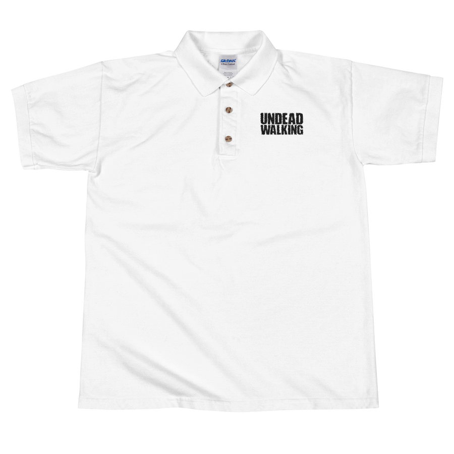 Undead Walking Embroidered Polo Shirt