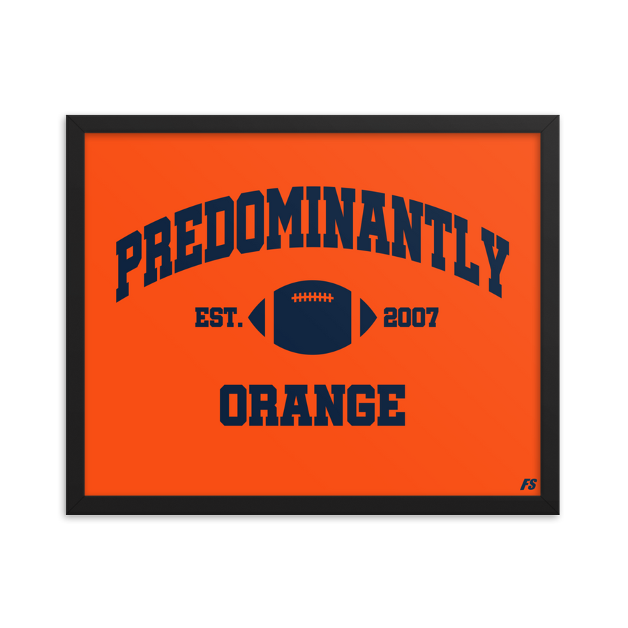 Predominantly Orange Premium Matte Framed Poster