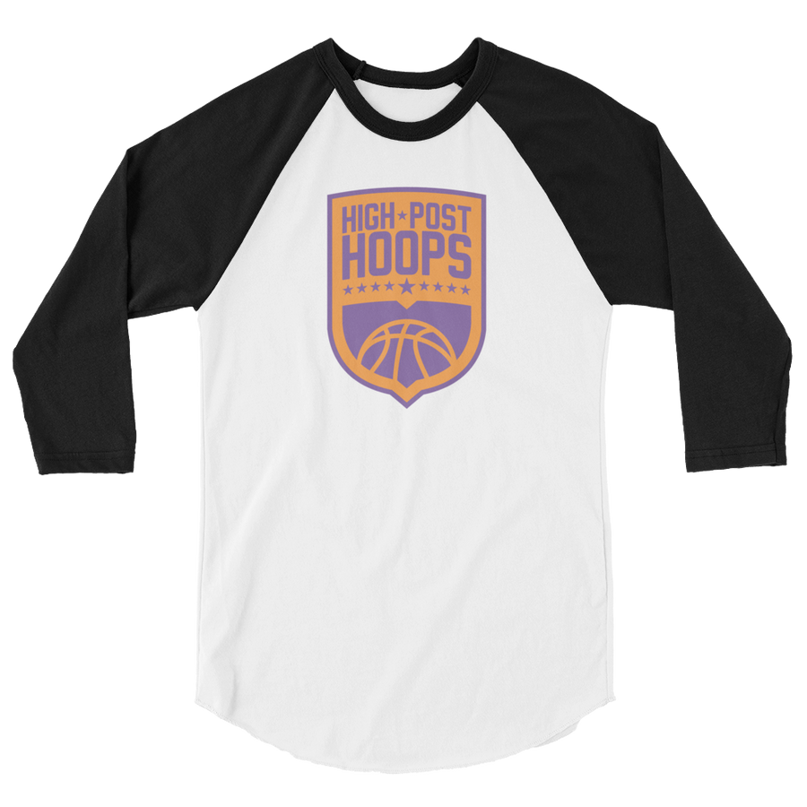 High Post Hoops 3/4 sleeve raglan shirt