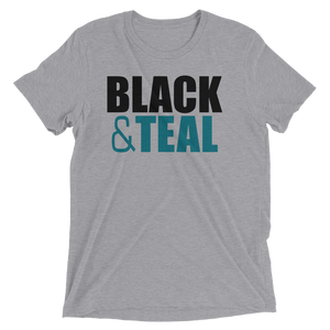 Men's Black and Teal Short-Sleeve T-Shirt