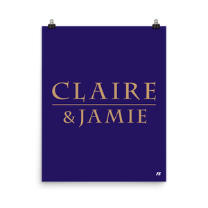 Claire & Jamie Poster
