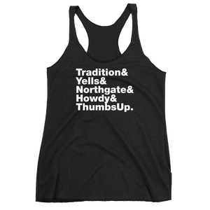 Tradition & Yells Women's Racerback Tank