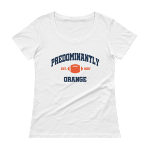Women's Predominantly Orange Scoopneck T-Shirt