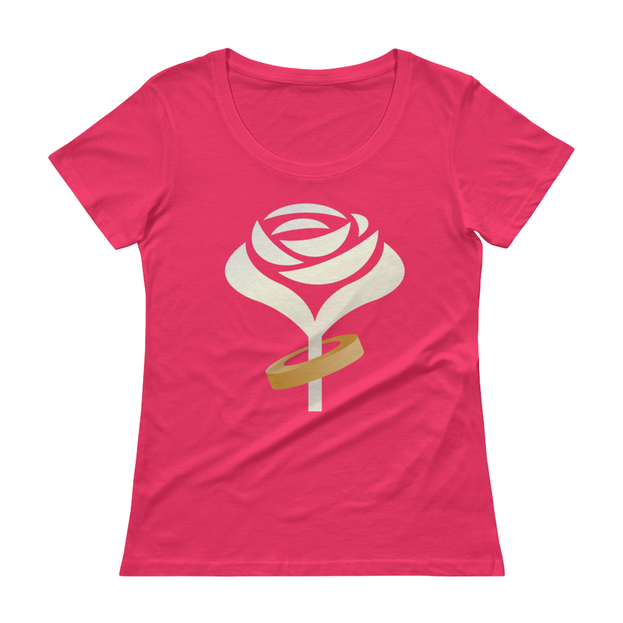 Accept This Rose Women's Scoopneck T-Shirt