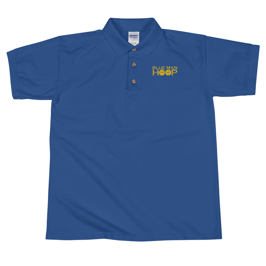 Blue Man Hoop Embroidered Polo Shirt