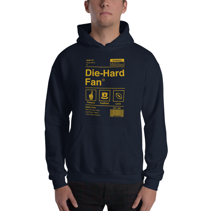 Notre Dame Die-Hard Fan Hooded Sweatshirt