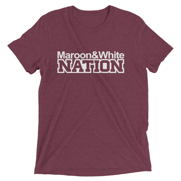 Maroon and White Nation Short Sleeve T-Shirt
