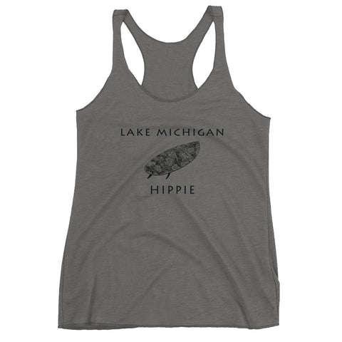 Lake Michigan Surf Hippie™ Women's Racerback Tank