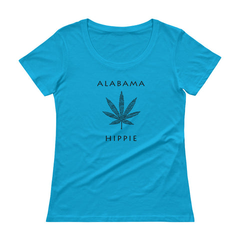 Alabama Marijauna Hippie™ Women's Scoopneck T-Shirt