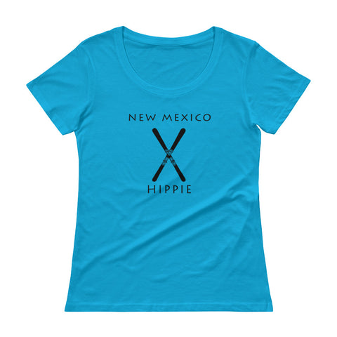 New Mexico Ski Hippie Women's Scoopneck T-Shirt