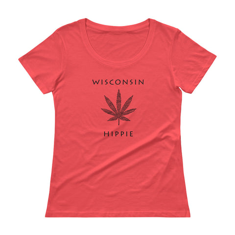 Wisconsin Marijuana Hippie Women's Scoopneck T-Shirt