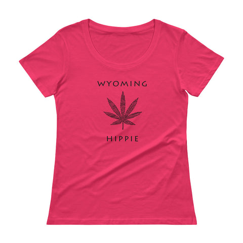 Wyoming Marijuana Hippie Women's Scoopneck T-Shirt